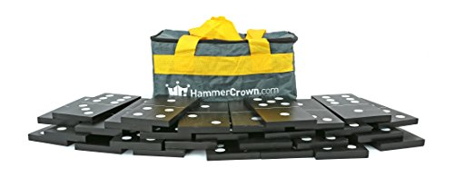 Hammer Crown Giant Dominoes; Black & White by Hammer Crown