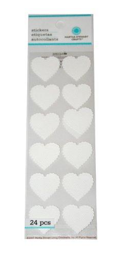 Martha Stewart Crafts Stickers, Dimensional White (Dimensional Heart)