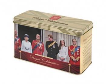 English Tea, English Breakfast Tea in Royal Celebaration Tin, British Royal Family - 30 Foil Envelped Teabags - Celebration Gift Tin