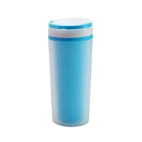 Ieasycan Drinking Water Bottle Portable with lid and Rope Plastic cup DIY double insulation prevent leaking cup For Children Gift