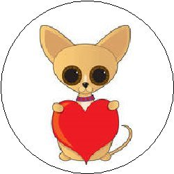 Amazon Com Chihuahua With Heart Dog Puppy Cartoon Cute