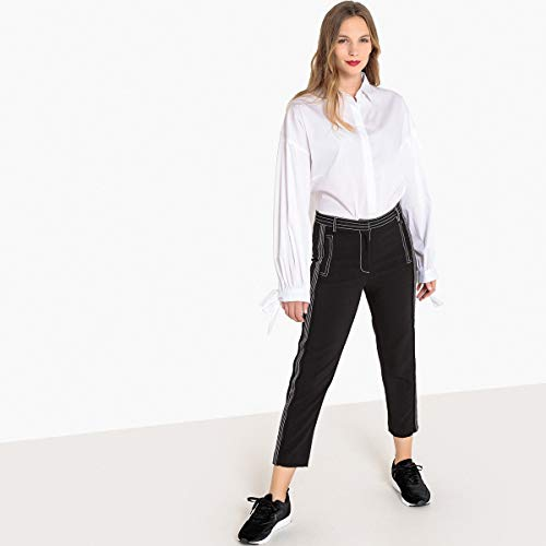 Nero A Twill Redoute Donna La In Pinocchietto Slim Pantaloni Collections RPwaOWTz