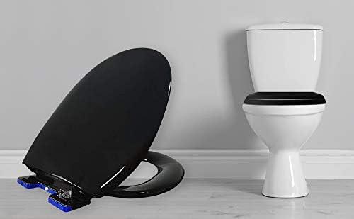 Ultra Sedile WC Morbido a Chiusra Rallentata Bianco Silenzioso con Rilascio Facile e Rapido Fissaggio Cerniere Regolabili strette Oval Anti batterico