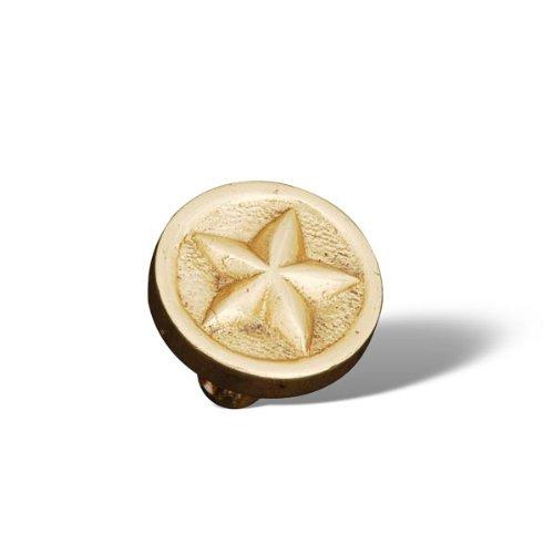 [R.K. International CK 209 Rki - Polished Brass Rugged Texas Star Knob] (Rugged Texas Star Knob)