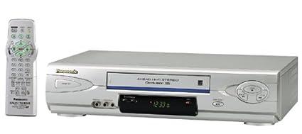 amazon com panasonic pv v4624s 4 head hi fi vcr silver electronics