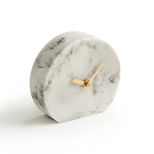 - La Redoute Interieurs Bakala Marble Mantel Clock White Size One Size