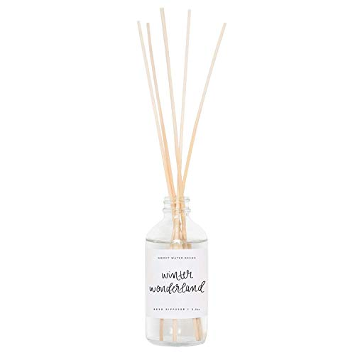 Water Winter Wonderland (Sweet Water Decor Winter Wonderland Reed Diffuser Set Holiday Scented Christmas Scents Reeds Diffusers Home Fragrance Oils Decorative Scent Sticks Air Freshener Aromatherapy Housewarming Hostess)