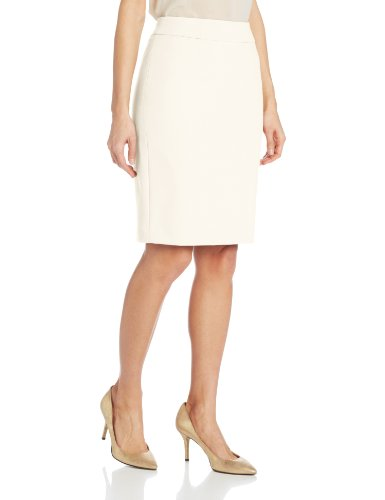 Calvin Klein Women's Straight Fit Suit Skirt, Cream, 8