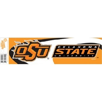 NCAA Oklahoma State Cowboys Wave Bumper Sticker (Oklahoma State Cowboys Bumper Sticker)