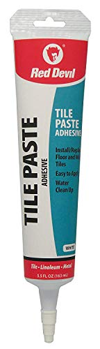 Red Devil 0497 Tile Paste Adhesive Squeeze Tube, White (Best Thinset For Glass Tile)