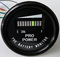 PRO12-48M ProPower's 48 Volt Battery Indicator, Meter for EZGO, Yamaha, Club Car - Golf Cart
