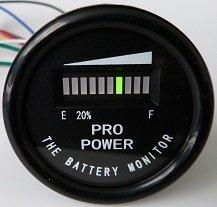 PRO12-48M ProPower's 48 Volt Battery Indicator, Meter for EZGO, Yamaha, Club Car - Golf Cart