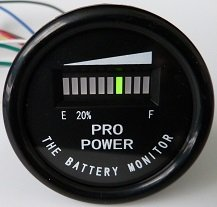 pro12-48m propower's 48 volt battery indicator, meter for ezgo, yamaha, club