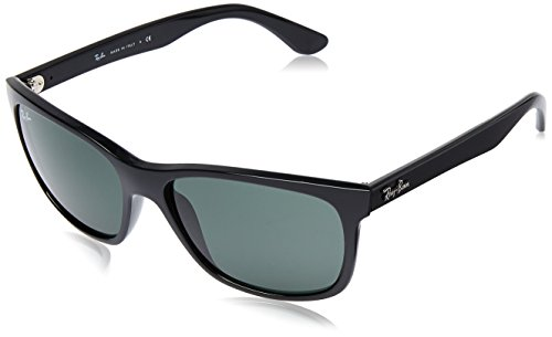 Ray-Ban RB4181 - Shiny Black Frame Crystal Green Lenses 57mm - Rb4181 Polarized