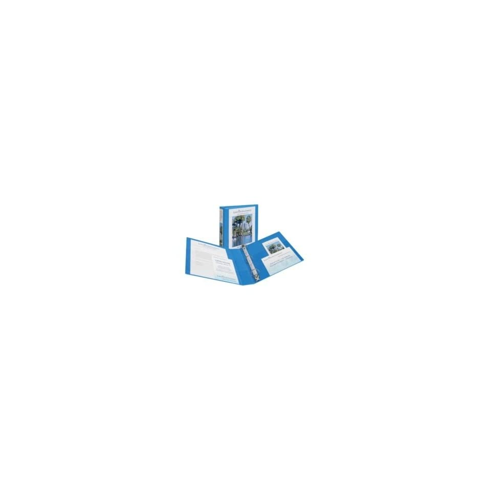 Avery   Nonstick Heavy Duty EZD Reference View Binder, 2 Capacity, metal blue   Sold As 1 Each   Extra wide cover for use with top loading sheet protectors and extra wide dividers.   Nonstick, archival safe material wont lift ink or toner off of printed