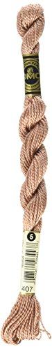 DMC 115 5-407 Pearl Cotton Thread, Dark Desert Sand, Size 5