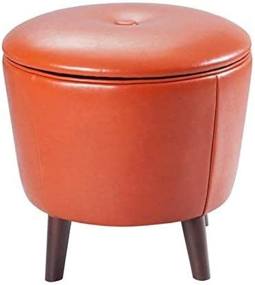 Madison Park Crosby Storage Ottoman-Solid Wood