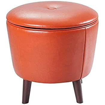 Amazon Com Madison Park Crosby Storage Ottoman Solid