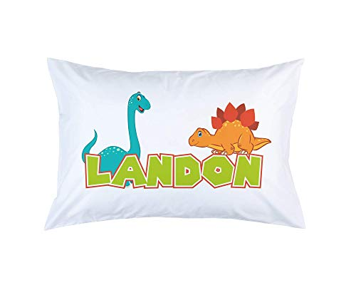 Pillow Personalized Graduation - Personalized Dinosaur Pillowcase For Kids, Standard Or Toddler Size