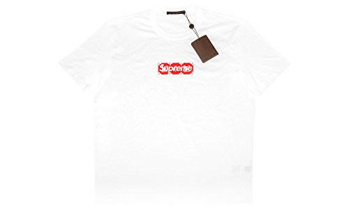 Footwear by Louis Vuitton Monogram Box Logo Tee White/Red (L)