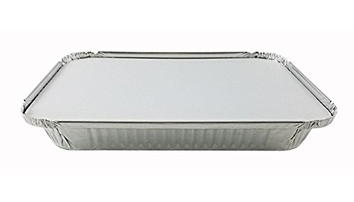 Handi-Foil 4 lb. Oblong Aluminum Entrée Dinner Food Storage Pan w/Board Lid (pack of 125) by Handi-Foil