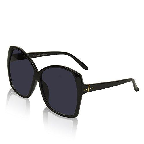 (Womans Womens Women's Sunglasses Classic Cute Eye Cheap Ultralight Dark Smoke)