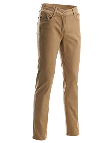 FLATSEVEN Mens Slim Fit Flat Front 5 Pocket Casual Twill Chino Pants Trousers (CH2000) Beige, M (Flat Front Twill Trousers)