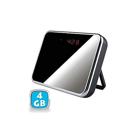 Reloj despertador con cámara espía Espejo 4 GB detector movimiento HD 1280 x 960P - Yonis: Amazon.es: Electrónica