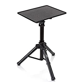 Universal Laptop Projector Tripod Stand – Computer, Book, DJ Equipment Holder Mount Height Adjustable Up to 35 Inches w…