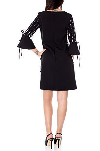 Noir Courte Cfc0016386002 Rinascimento Femme Robe IU16gx