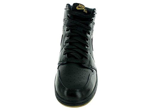 Nike Mens Air Jordan 1 Mitten Basket Sko Svart / Gummi Ljusbrun