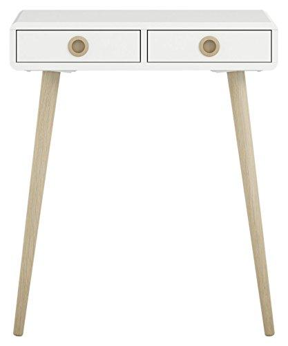 Steens Schreibtisch Soft Line, Computertisch, Bürotisch, Konsole mit 2 Schubladen, (B/H/T) 65 x 76 x 30 cm, MDF, Weiß