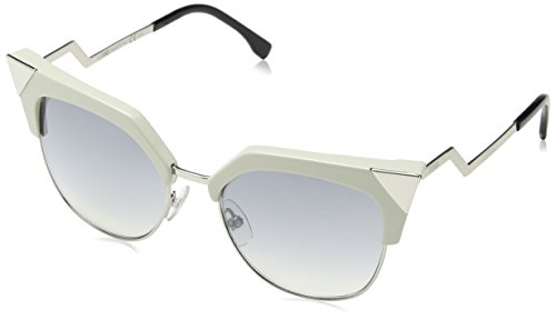 (Fendi - IRIDIA FF 0149/S, Cat Eye, metal, women, BEIGE PALLADIUM/GREY SILVER SHADED MIRROR(TLY/EK), 54/18/140)
