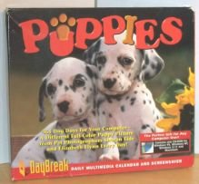 Calendar Screensaver - Puppies: Daily Multimedia Calendar and Screensaver 1997