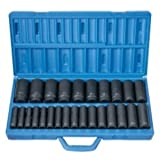 Grey Pneumatic Corp 1326MD 1/2-Inch Drive Deep Length Metric Master Set - 26 Piece