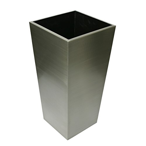 Algreen Stainless Steel Square Taper, Brushed Finish, 14'' Diameter X 29.5'' Height by Algreen