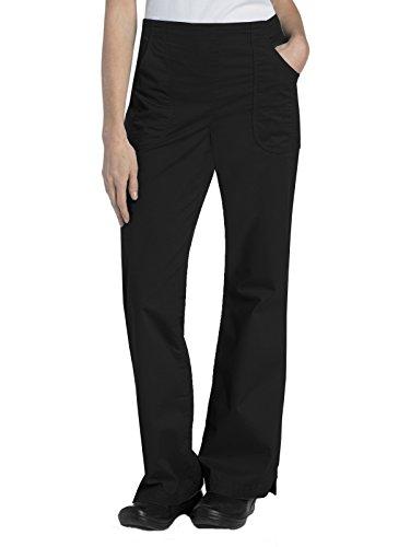 Landau Women's Drawstring Elastic Back Medical Scrub Pant, Black, Small