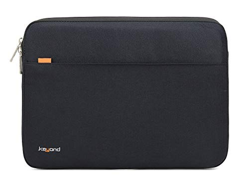 KAYOND 360° Protective 13-13.3 Inch Laptop Sleeve Case, Water Resistant Notebook Bag -Black