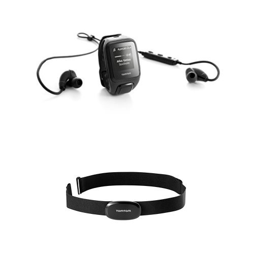 TomTom Spark Music Small Black (Headphones Bundle) with Bluetooth Heart Rate Monitor Bundle
