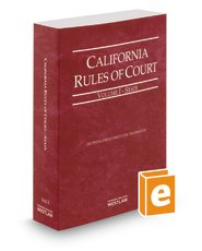 California Rules Of Court State 2014  California Rules Of Court  State And Federal