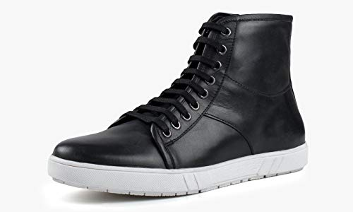 Black Mens Leather High Redfoot Top 5x7OYWwq