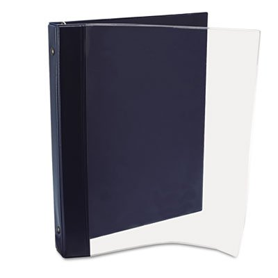 Advantus ANG120D Catalog Magazine Binder, Clear/Navy Blue (Cover Magazine Front)