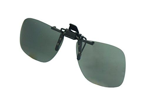 Colorviper Polarized Clip-on Flip up Metal Clip Sunglasses 1.1MM Thick Lens Polarized (Medium size square Polarized 1.1mm, one - Heavy Metal Sunglasses