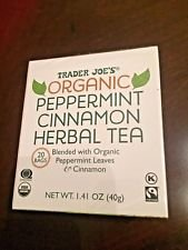 Cinnamon Mint Tea (Trader Joe's Organic Peppermint Cinnamon Herbal Tea 1.41 Oz ( pack of 1))