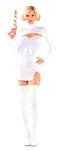 Party King Women's Interstellar Princess Sexy Costume Set, White, Medium -