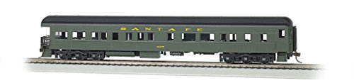 Bachmann Industries Santa Fe #407 Ho Scale 72' Heavyweight Observation Car with Lighted Interior