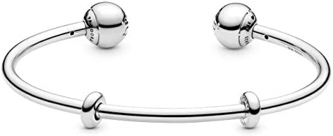 "Pandora Jewelry Silver Open Bangle Sterling Silver Bracelet, 8.1"""