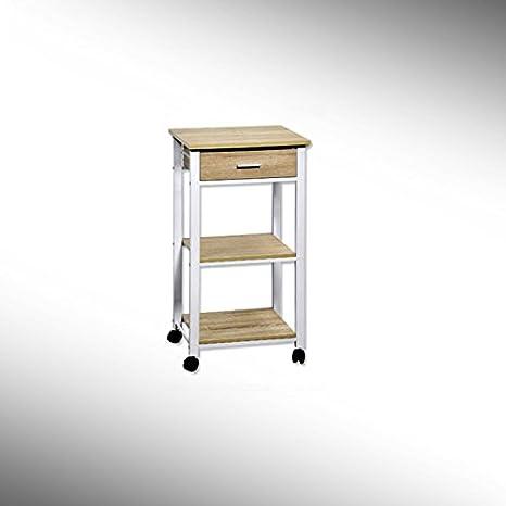 Kesper - Carrito de cocina Microondas carro carrito con cajón (Madera de Roble: Amazon.es: Hogar