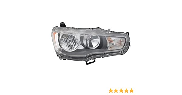 OE Replacement Mitsubishi Outlander Passenger Side Headlight Assembly Composite Partslink Number MI2503144