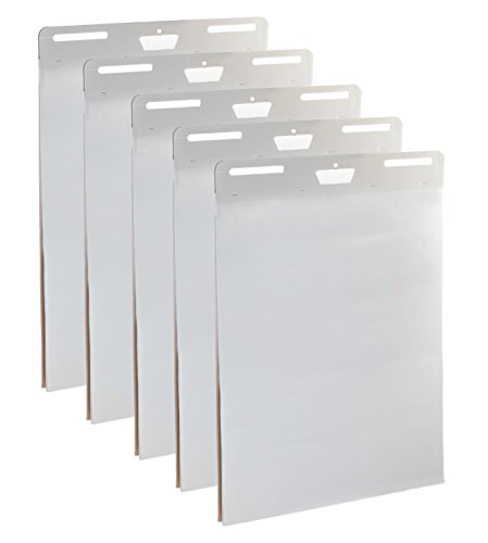 Backing Paper Pad - 5-Pack of Premium Self-Stick Easel Pads - 25 x 30 Inches, 30 Sheets Per Pad - Thick Paper, Strong Staples, Sticky Easel Poster Chart Pads to Post on Walls - By IMPRESA